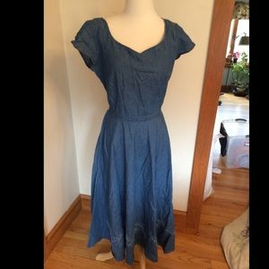 Like-new midi length denim dress